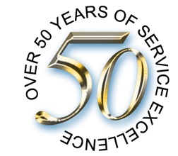 50 years service excellence