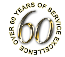 60 years service excellence